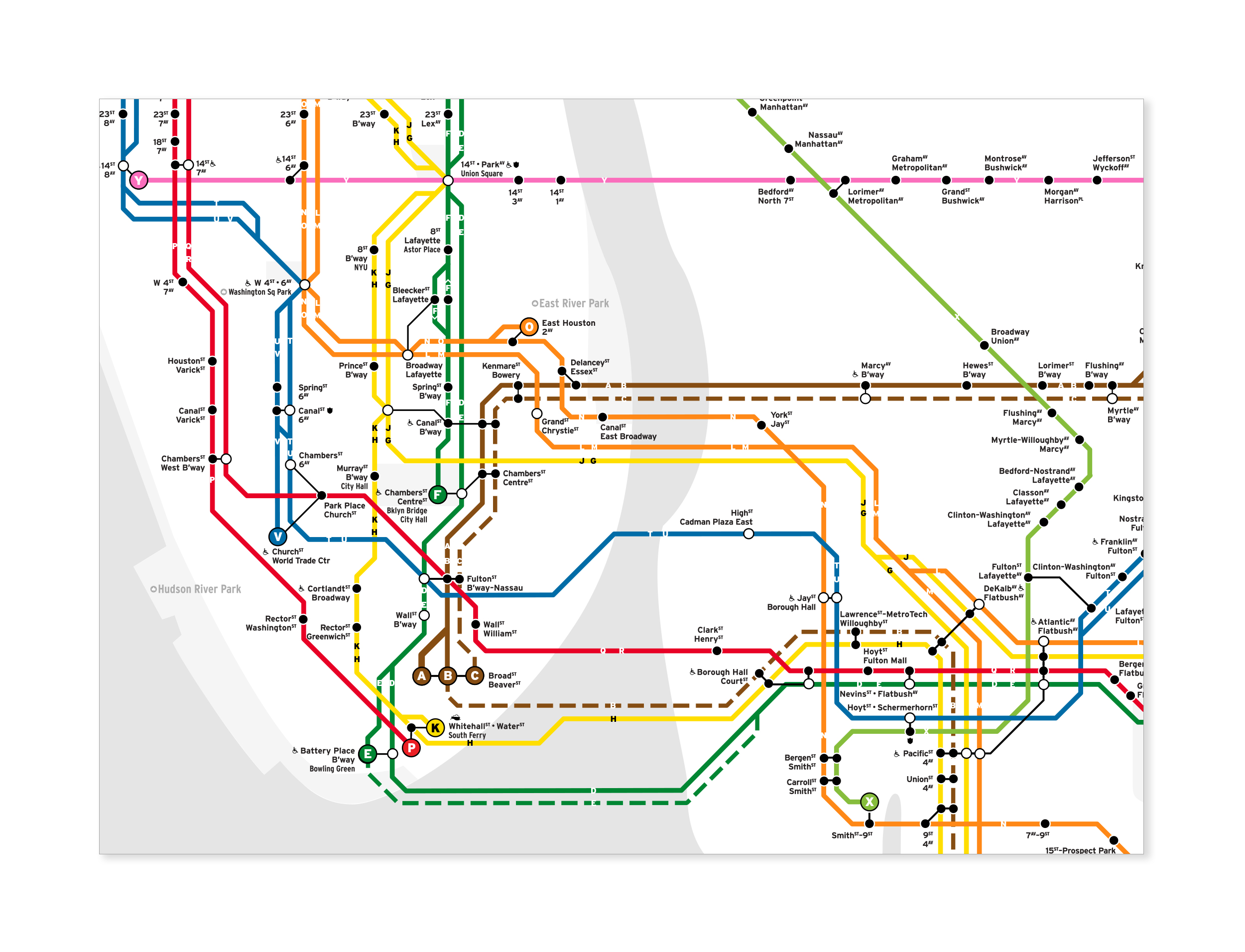 Prospect Park Subway Map.New York City Subway Map